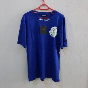 Palm Angels Blue Over Size Short Sleeve T-Shirt